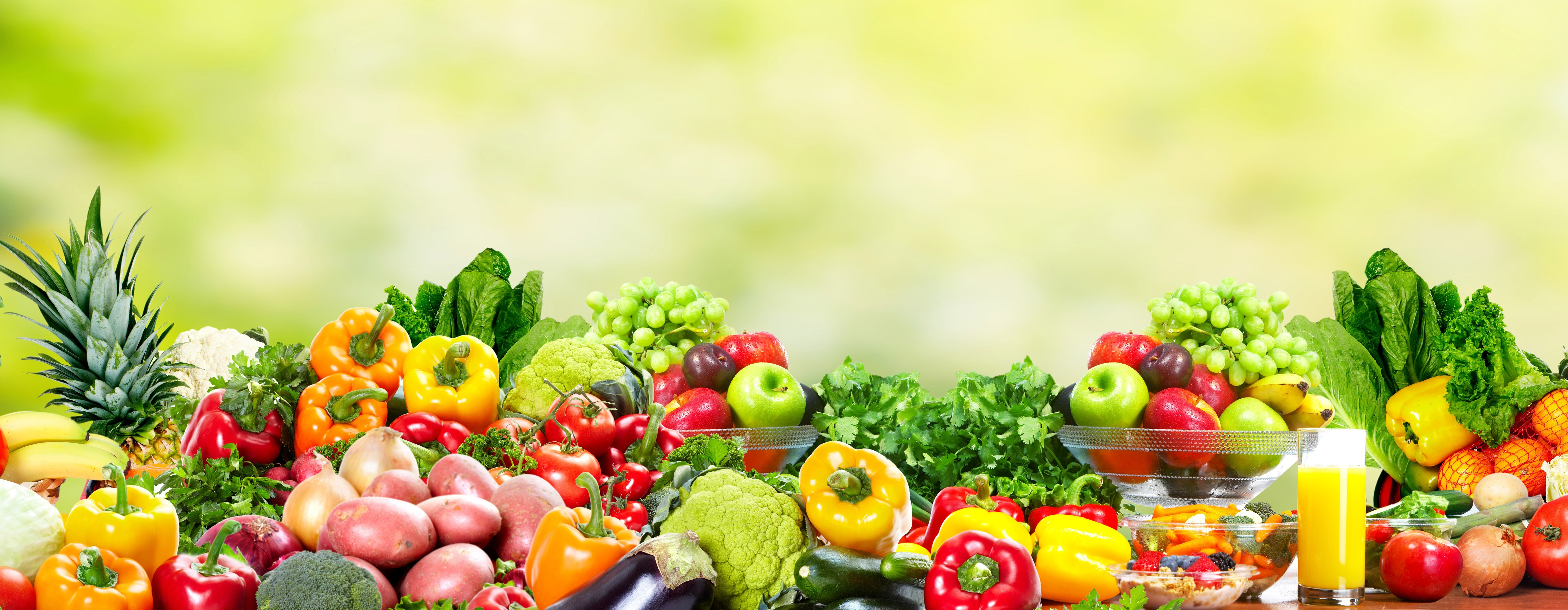 Fresh fruits and vegetables health and diet background for Fresh pictures